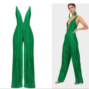 Emerald green jumpsuit